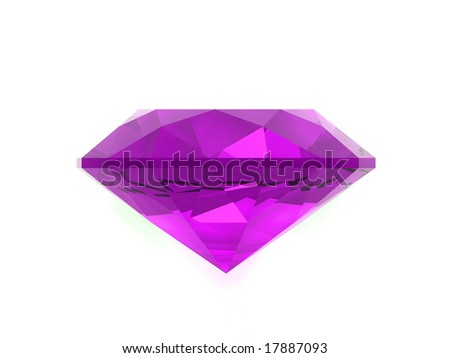 Amethyst isolated on white background