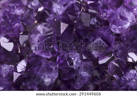 Amethyst mineral close up - stock photo