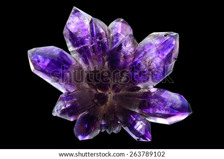 Amethyst scepter from Namibia.  - stock photo