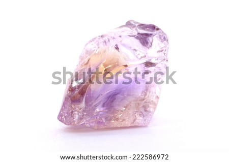 Ametrine stone, a Bicolor Gemstone of Amethyst and Citrine - stock photo