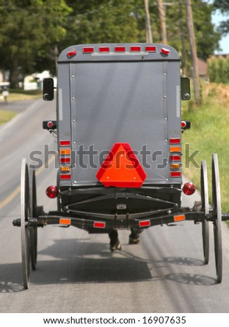 Amish buggy in Lancaster - stock photo