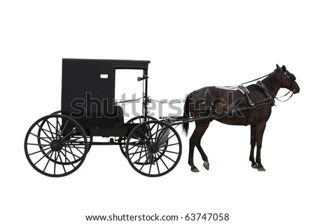 Amish transport - stock photo
