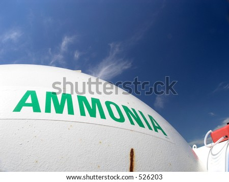 Ammonia tank in Midwest USA, fertilizer to feed the world - stock photo