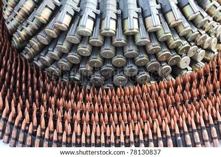 Ammunition: assorted cartridges - stock photo