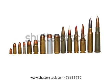 ammunition isolated on white. - stock photo