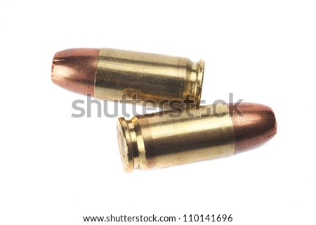 Ammunition isolated on white background - stock photo