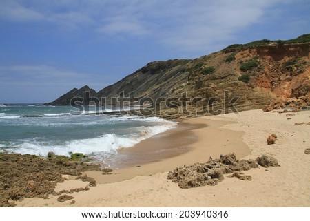 Amoreira beach coastline  - stock photo