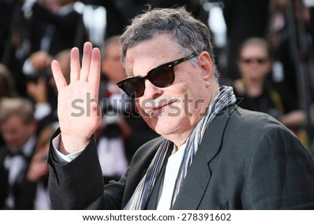 Amos Gitai attends the opening ceremony and 'La Tete Haute' premiere during the 68th annual Cannes Film Festival on May 13, 2015 in Cannes, France. - stock photo
