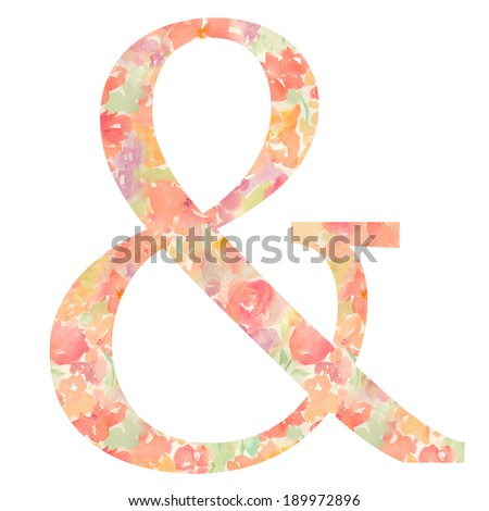 Watercolor Ampersand Stock Photos, Royalty-Free Images  Vectors