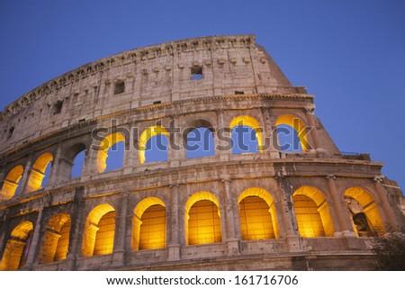 Amphitheater, Colosseum, Rome, Lazio, Italy - stock photo