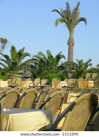 amphitheater  in resort - stock photo