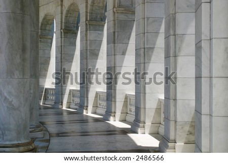Amphitheater Pillars - stock photo