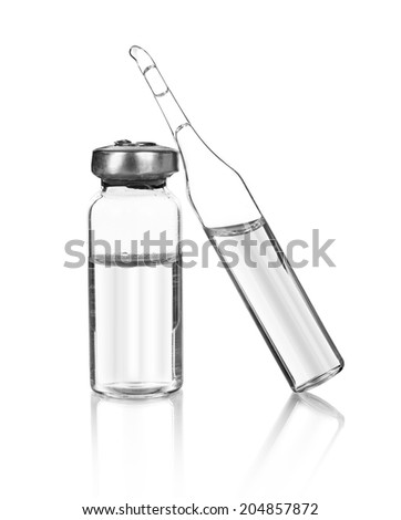 ampoules isolated on white background - stock photo