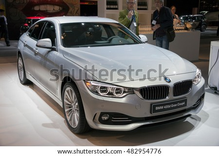 AMSTERDAM - APRIL 16, 2015: BMW 420d Gran Coupe on display at the Amsterdam AutoRAI Motor Show.