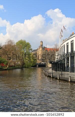 amsterdam city view - stock photo