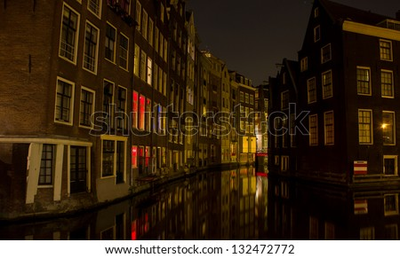 Amsterdam Gracht at night
