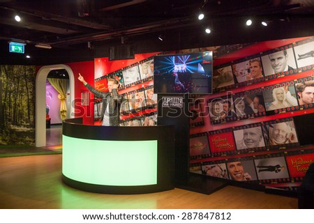 AMSTERDAM, NETHERLANDS - JUN 1, 2015: Armin van Buuren, Madame Tussauds museum in Amsterdam. Marie Tussaud was born as Marie Grosholtz in 1761