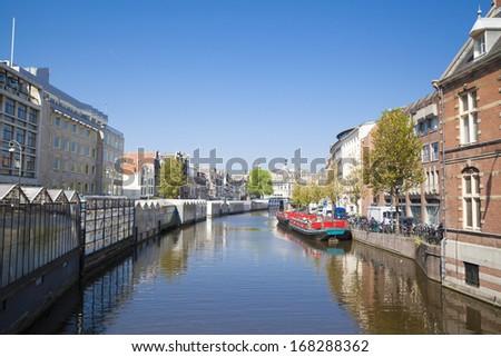 Amsterdam's Floating Tulip Bulb Market, Netherlands - stock photo