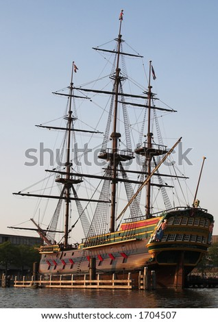 Amsterdam Tall Ship - stock photo