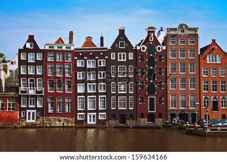 Amsterdam view, Netherlands - stock photo