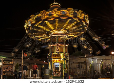 Amusement park at Old Orchard Beach in Maine, Usa - stock photo