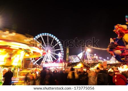 amusement park in berlin - stock photo