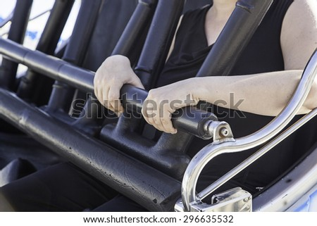 Amusement ride safety, parties and fun - stock photo