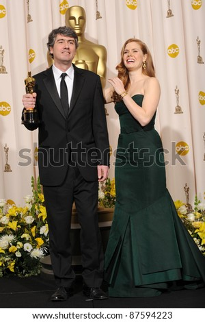 Amy Adams & Dario Marianelli at the 80th Annual Academy Awards at the Kodak Theatre, Hollywood. February 24, 2008 Los Angeles, CA Picture: Paul Smith / Featureflash