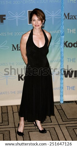 Amy Brenneman attends Women In Film Presents The 2007 Crystal and Lucy Awards held at the Beverly Hilton Hotel in Beverly Hills, California, California, on June 14, 2006.  - stock photo