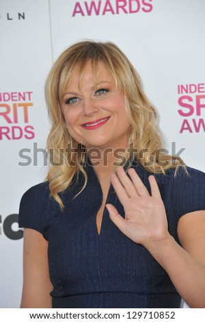 Amy Poehler at the 2013 Film Independent Spirit Awards on the beach in Santa Monica. February 23, 2013  Santa Monica, CA Picture: Paul Smith - stock photo