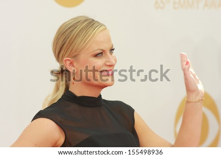 Amy Poehler at the 65th Primetime Emmy Awards at the Nokia Theatre, LA Live. September 22, 2013  Los Angeles, CA - stock photo