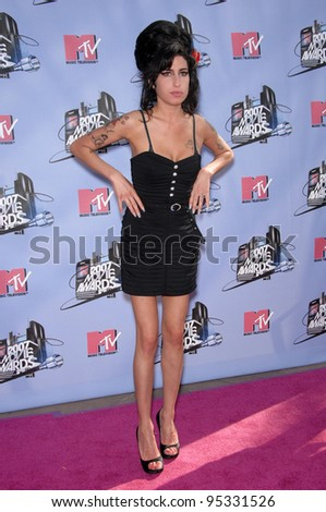Amy Winehouse at the 2007 MTV Movie Awards at the Universal Amphitheatre. June 3, 2007 Los Angeles, CA Picture: Paul Smith / Featureflash - stock photo