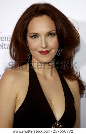 "Amy Yasbeck at the ""Runway For Life"" Benefiting St. Jude Children's Research Hospital held at the Beverly Hilton in Beverly Hills, California, United States."