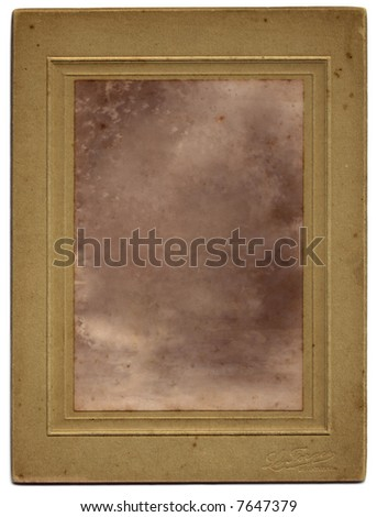 An a vintage photograph. Clipping paths included. The image has been removed, leaving only the texture to allow the easy insertion of any photo using blending modes. - stock photo