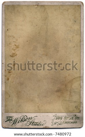 An a vintage photograph.  The image has been removed, leaving only the texture to allow the easy insertion of any photo using the multiply blend mode. - stock photo