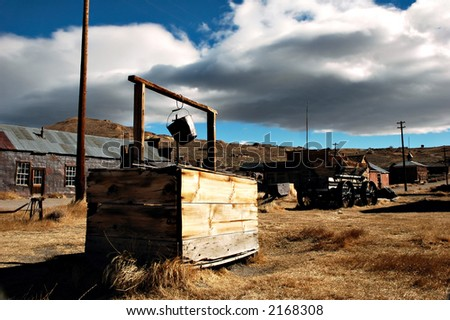 An abandoned well in a ghost town, Bodie, California