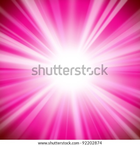 An Abstract Background with Bright Glow and Light Beams