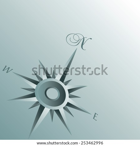 An Abstract Compass Background illustration - stock photo