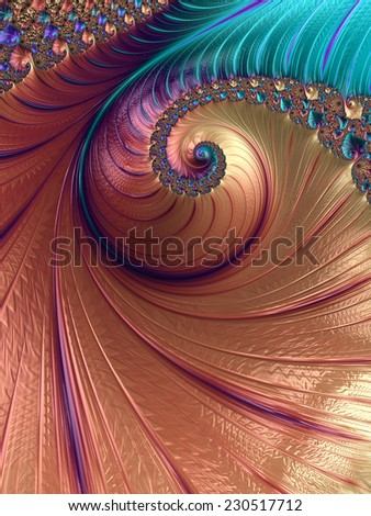 An abstract computer generated fractal design.  - stock photo