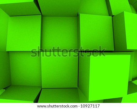 An abstract 3d background with cubes growing out of it. - stock photo