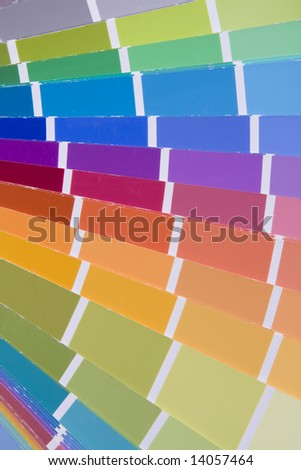 an abstract detail of a abstract palette color choice - stock photo