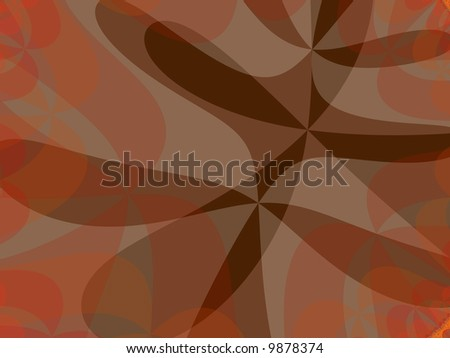 An abstract fall background fractal. - stock photo