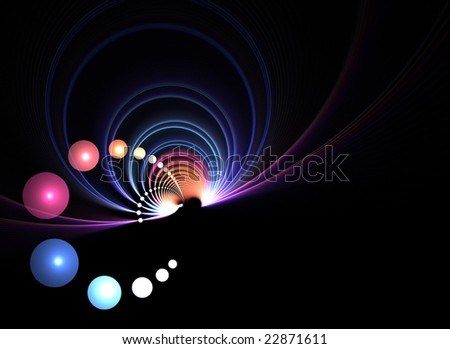 An abstract fractal vortex background with plenty of copyspace - add style to any design.