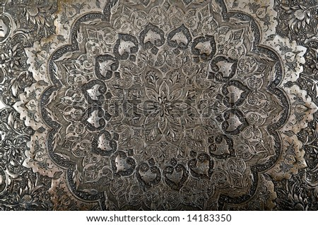 An abstract image of a Persian engraving