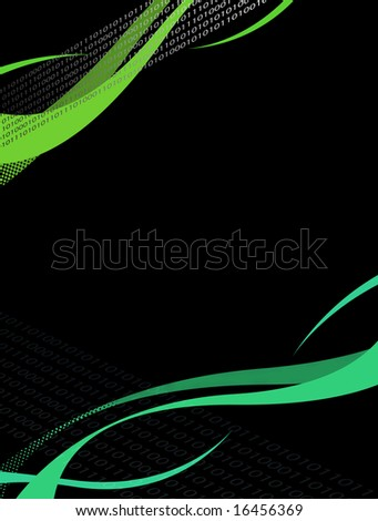 An abstract layout with plenty of copy space related to the computer information industry. - stock photo