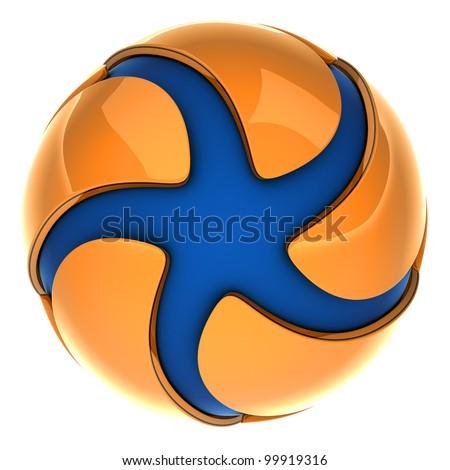 An abstract logo - stock photo