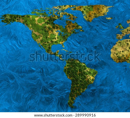 an abstract map of the earth - stock photo
