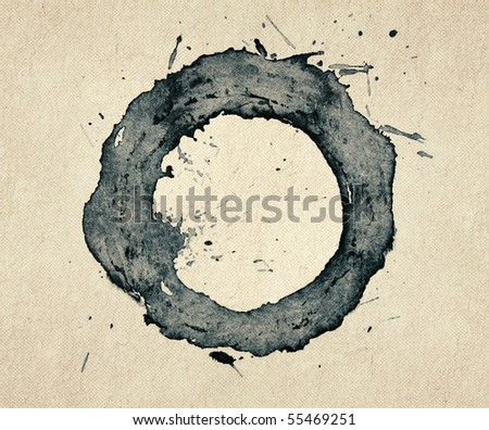 An abstract painted ink frame - stock photo