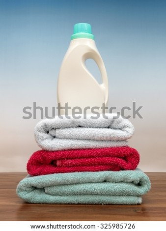 An abstract photo of traditional laundry items - stock photo