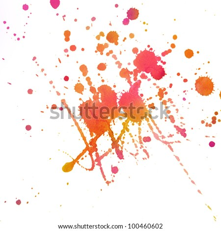 An abstract water-colored painted blot - stock photo
